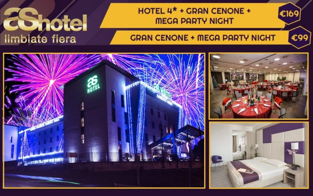 CAPODANNO AS HOTEL 2020 CON MEGA PARTY